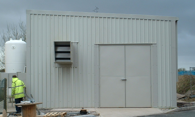 Acoustic Enclosure for PSA unit show access doors
