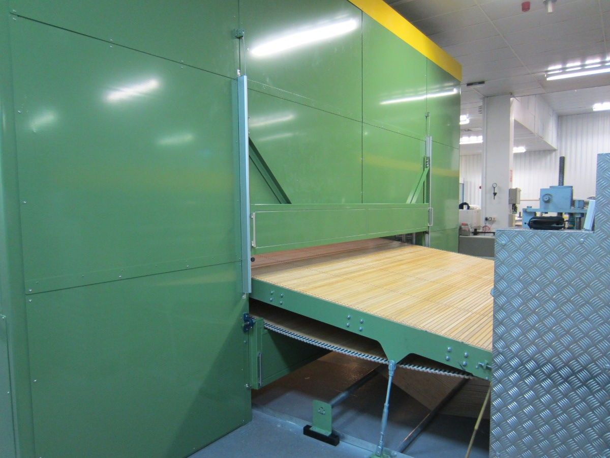 Material entry on acoustic enclosure