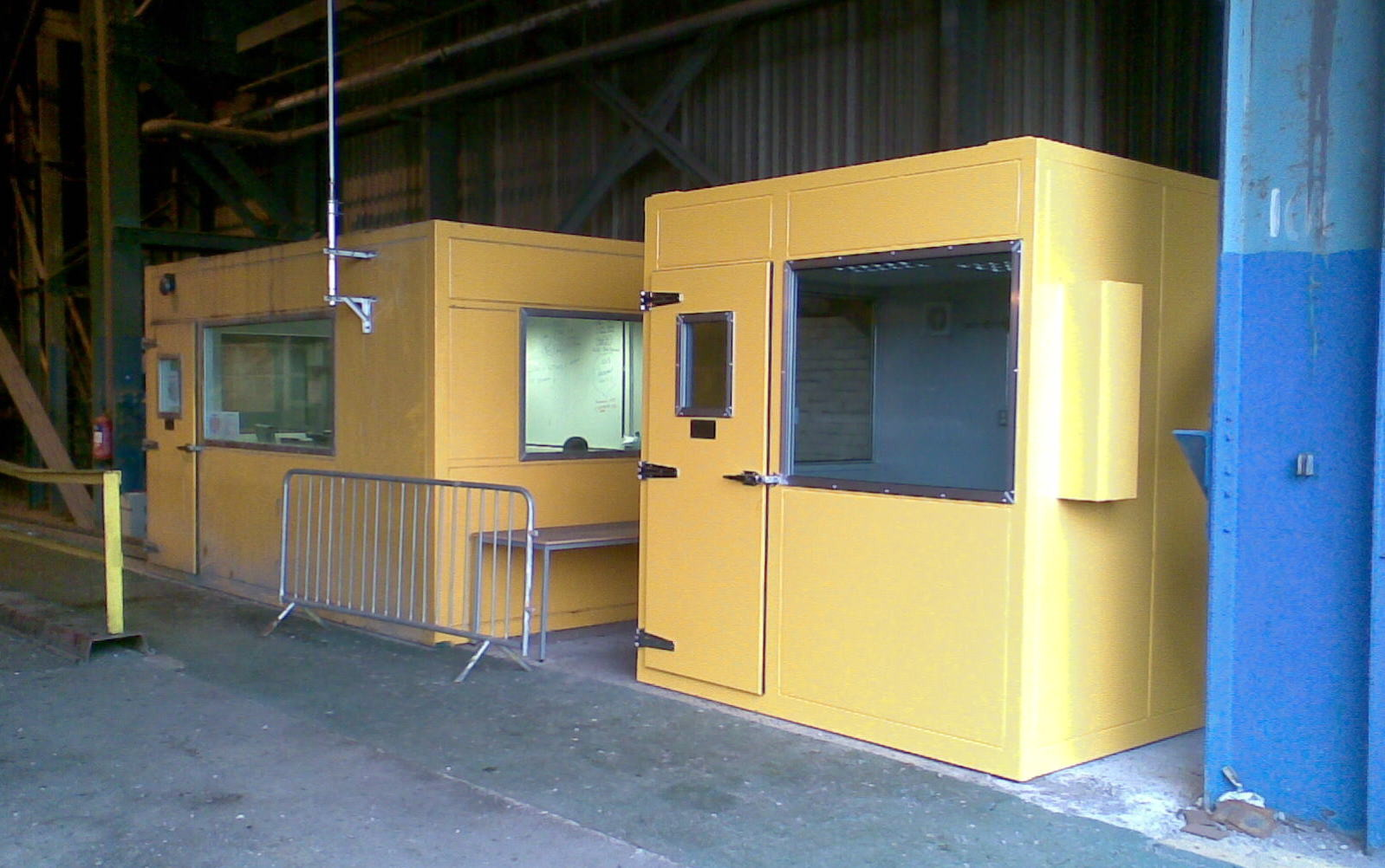 2 Acoustic Cabins for mill dispatch