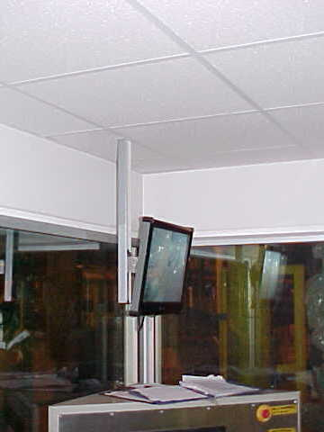Monitors and Acoustic ceiling for enclosure