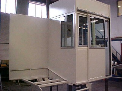 view of machine tool control booth