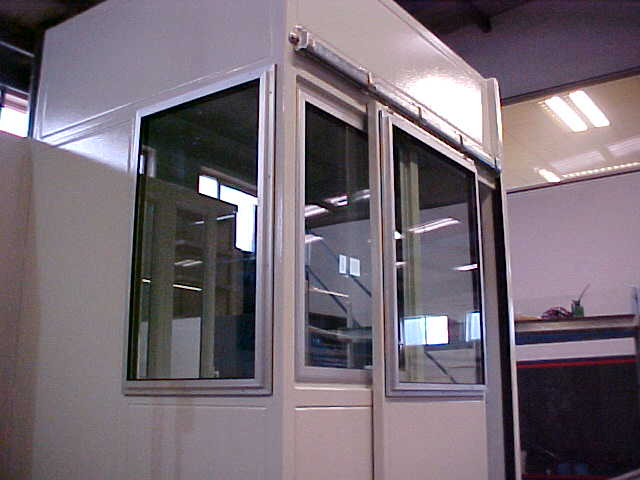 doors on machine tool control booth